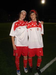 Rocio y Bea con la Selección Sub16