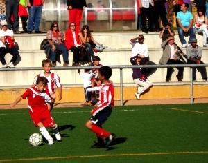 Jugada del CD Leganés contra el Atlético de Madrid