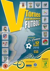 Cartel V Torneo Benjamín de Fútbol-7 San Nicasio 2010