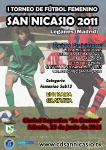 Cartel Torneo Fútbol Femenino San Nicasio 2011