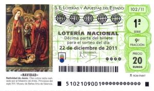 Décimo de Lotería Nacional de Navidad 2011