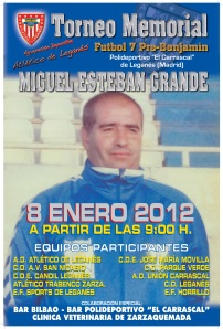 Cartel Memorial Miguel Esteban Grande