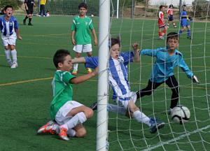 Partido entre CD Leganés y  Club Pvo. Parla Escuela