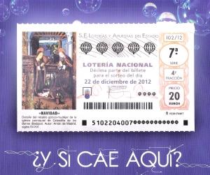 Cartel Lotería de Navidad 2012