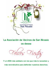 Postal Navideña de la Asociación de Vecinos de San Nicasio 2012