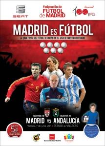 Cartel Partido Centenario Federación de Fútbol de Madrid - Madrid Andalucía