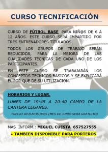 Cartel Tecnificación 2013