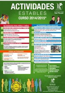 Cartel Actividades Estables AV SAN NICASIO 2014-2015