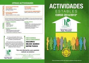Díptico Actividades Estables AV SAN NICASIO 2014-2015-1