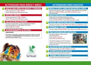 Díptico Actividades Estables AV SAN NICASIO 2014-2015-2