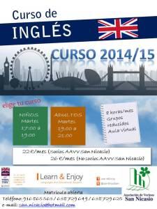 Cartel Curso de Inglés San Nicasio