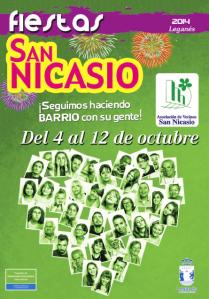 Portada Programa de Fiestas de San Nicasio 2014 - Leganes Madrid