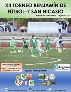 Cartel XII Torneo Benjamín Fútbol 7 San Nicasio 201