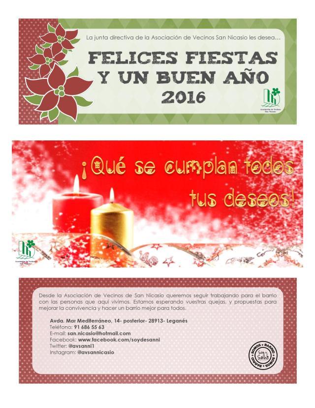 Felicitación de Navidad CDAV San Nicasio de Leganés - Madrid