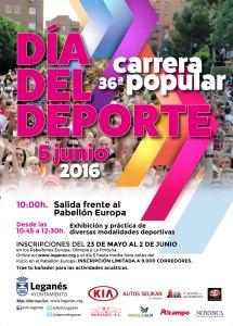 Carrera Popular y Día del Deporte de Leganés -2016