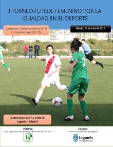 CARTEL I Torneo Futbol Femenino por la igualdad en el deporte 2016