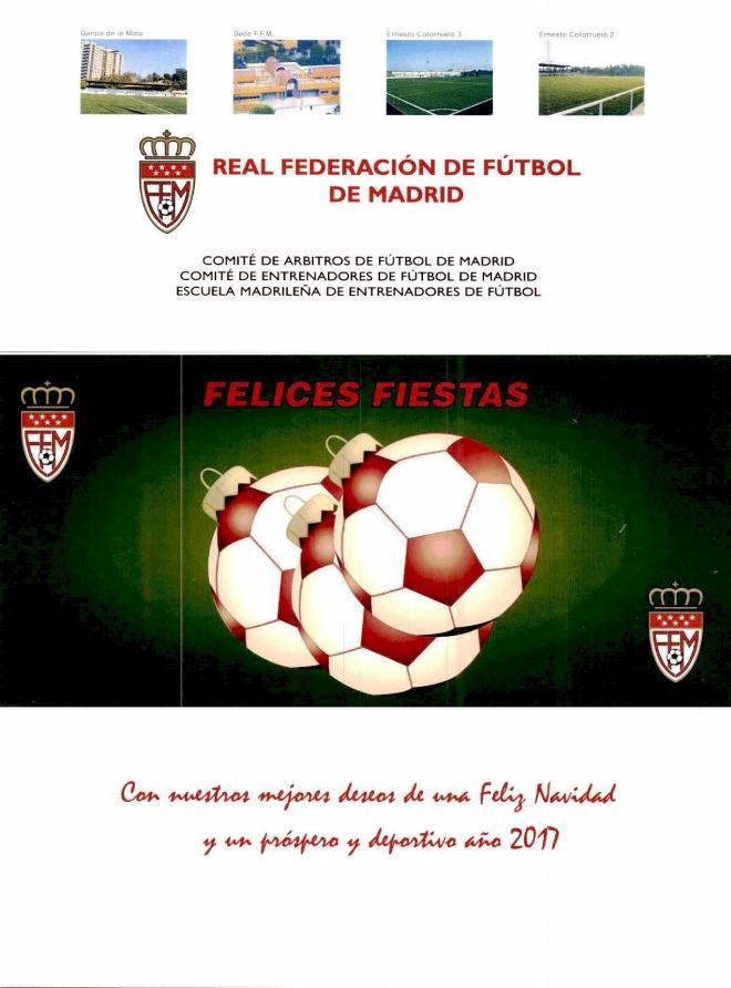 Felicitacion de Navidad Real Federacion de Futbol de Madrid 2016