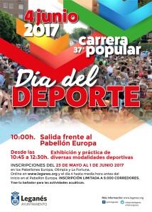 Cartel 37 Carrera Popular de Leganés y Día del Deporte 2017