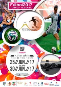 Cartel Torneo de Futbol Femenino Playa de Doñana 2017