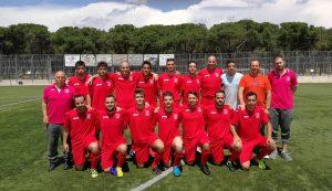 Alineación último partido de temporada 16-17 frente al A.D. Piqueñas.