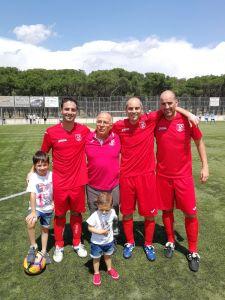 Los tres capitanes de la temporada 16-17 (Nando Rober y Alberto) y nuestro delegado Manolo