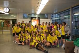 Sección de Fútbol Femenino del CDAV San Nicasio a la llegada del Torneo de Matalascañas 2017