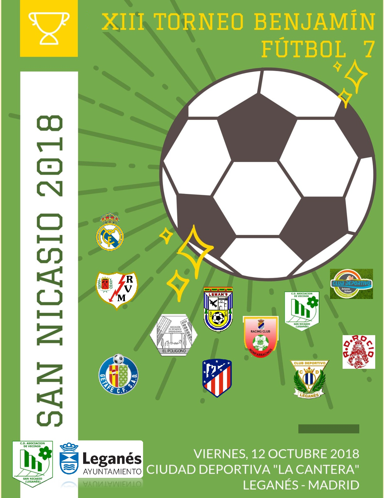 Cartel XIII Torneo Benjamín de Fútbol 7 San Nicasio 2018_final