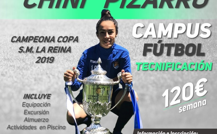 """Presentado el I Campus de Tecnificación de Fútbol de la jugadora """"Chini"""" Pizarro enLeganés"""